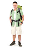Male hiker with backpack Royalty Free Stock Photo
