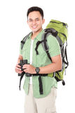 Male hiker with backpack Stock Image