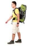 Male hiker with backpack walking Stock Image