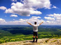 A man on Mount Race top Royalty Free Stock Images