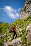Male hiking Royalty Free Stock Photos