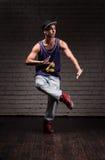 Male hip-hop dancer Stock Images