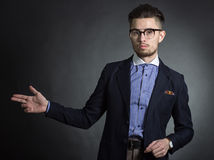 Male hipster Stock Photo
