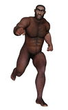 Male homo erectus running - 3D render Royalty Free Stock Photo