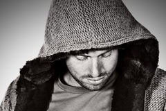 Male in Hooded Top. Shot of a Male in Hooded Top Stock Images