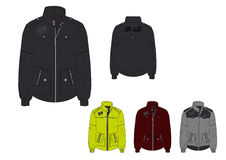 Male Hoodless Windbreaker with Waterproof Jacket design template Stock Image