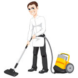 Male Hotel Cleaning Service Stock Image