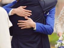 Male Hugs Stock Photos