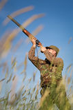 Male hunter on the hunting field Stock Photo