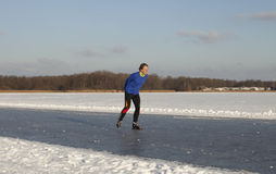 Male ice skater on ice royalty free stock images