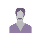 Male Icon Collection Time for meditation Royalty Free Stock Photo