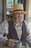 Male Reenactor at Old World Wisconsin Royalty Free Stock Images