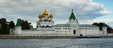 Male Ipatievsky Monastery at cloudy day in Kostroma, Russia Royalty Free Stock Photography