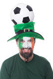 Male irish soccer fan Stock Image