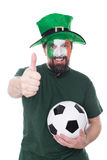 Male irish soccer fan Stock Photos