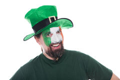 Male irish soccer fan Stock Photo