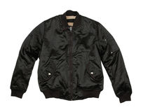 Male jacket. There is a black male jacket on the white background Stock Photos