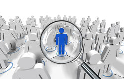 Male job search. Selection job Royalty Free Stock Images