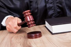 Male Judge In A Courtroom Royalty Free Stock Image
