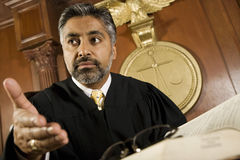 Male Judge Courtroom Stock Images