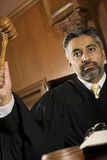 Male Judge Knocking Gavel Royalty Free Stock Image