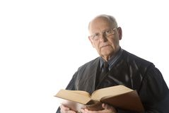 Male judge portrait. Over a white background Royalty Free Stock Photography