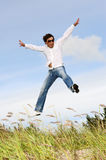 Male jumping Stock Photos