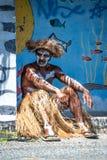 Male Kanak dancer Stock Image
