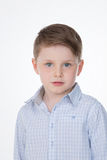 Male kid on white background Stock Image