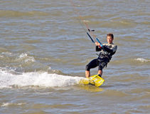 Male kitesurfer Royalty Free Stock Photos