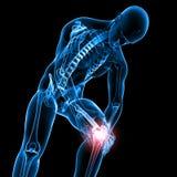 Male knee pain Stock Photos