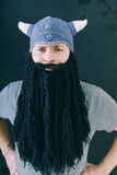 Male in knitted hat royalty free stock image