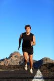 male löparerunning Fotografering för Bildbyråer