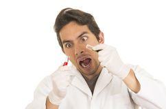 Male lab researcher technician scientist doctor Stock Photography