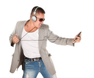 Male Latino Dancing Stock Photo