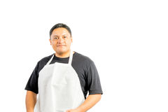 Male Latino Wearing Apron Royalty Free Stock Photography