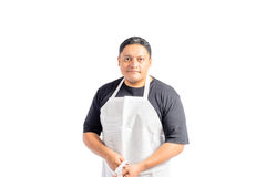 Male Latino Wearing Apron Royalty Free Stock Photos