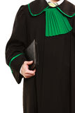 Male lawyer hold tablet in case. Royalty Free Stock Images