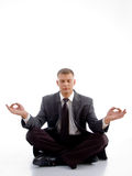 Male lawyer meditating Royalty Free Stock Photos