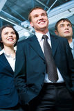 Male leader. Image of business team with male leader in front Stock Photos