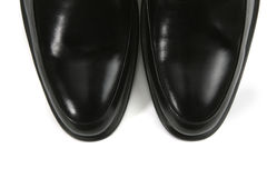 Male leather black shoes Royalty Free Stock Photos