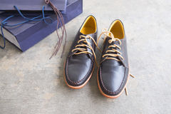 Male leather classic shoes Stock Image