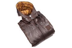 Male leather jacket Royalty Free Stock Photo