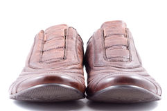 Male leather shoes. Isolated in white Stock Images