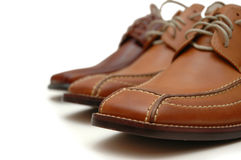 Male leather shoes. Isolated in white Stock Photo