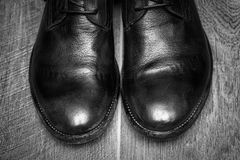 Male leather shoes Royalty Free Stock Photo