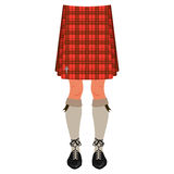 Male legs in kilt Stock Image