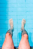 Male Legs in Pool Royalty Free Stock Photos