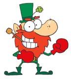 Male Leprechaun Ready For Boxing. Cartoon Male Leprechaun Ready For Boxing vector illustration