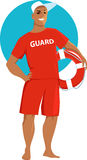 Male lifeguard Stock Photography